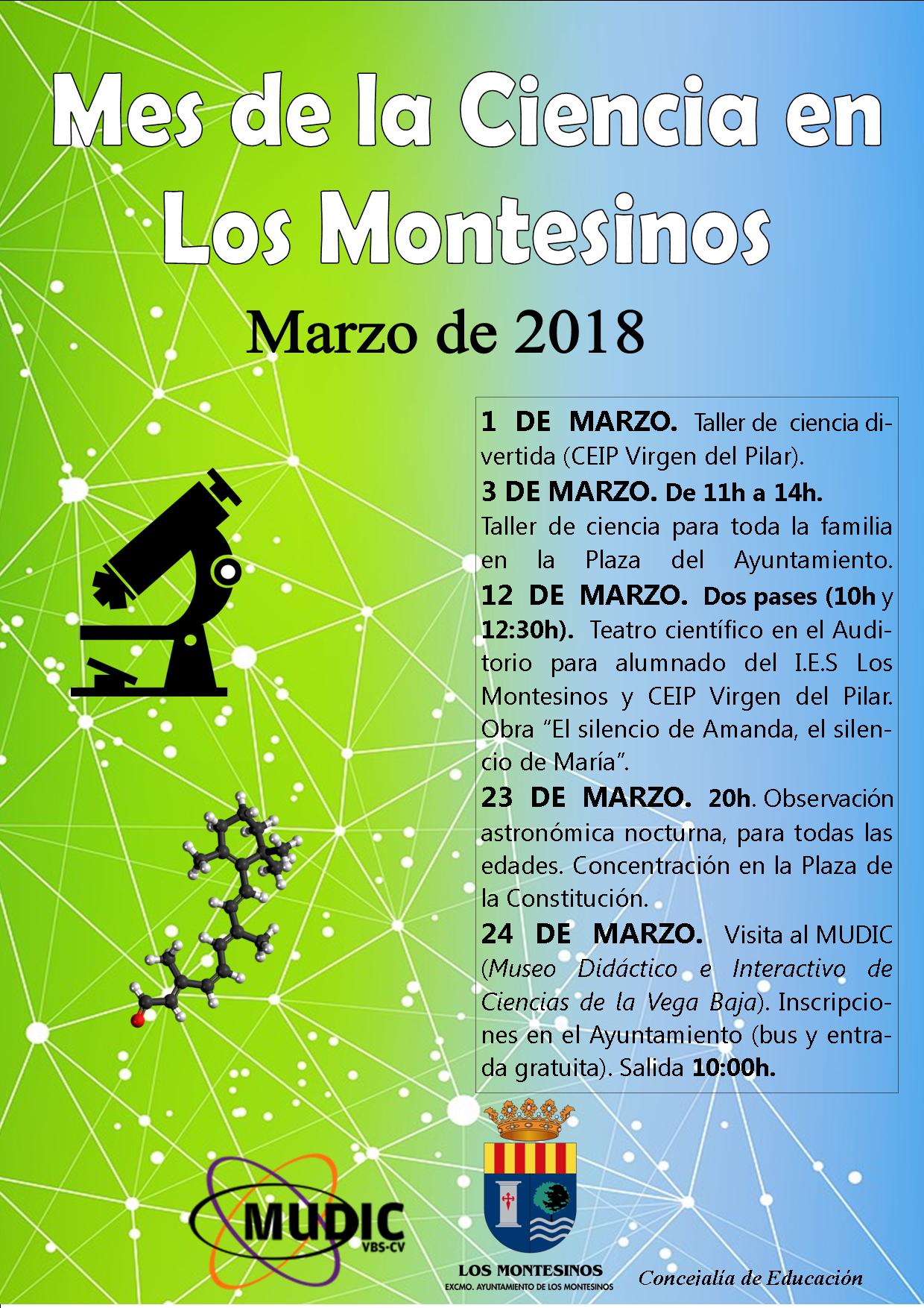 Marzo es el mes de LA CIENCIA en Los Montesinos
