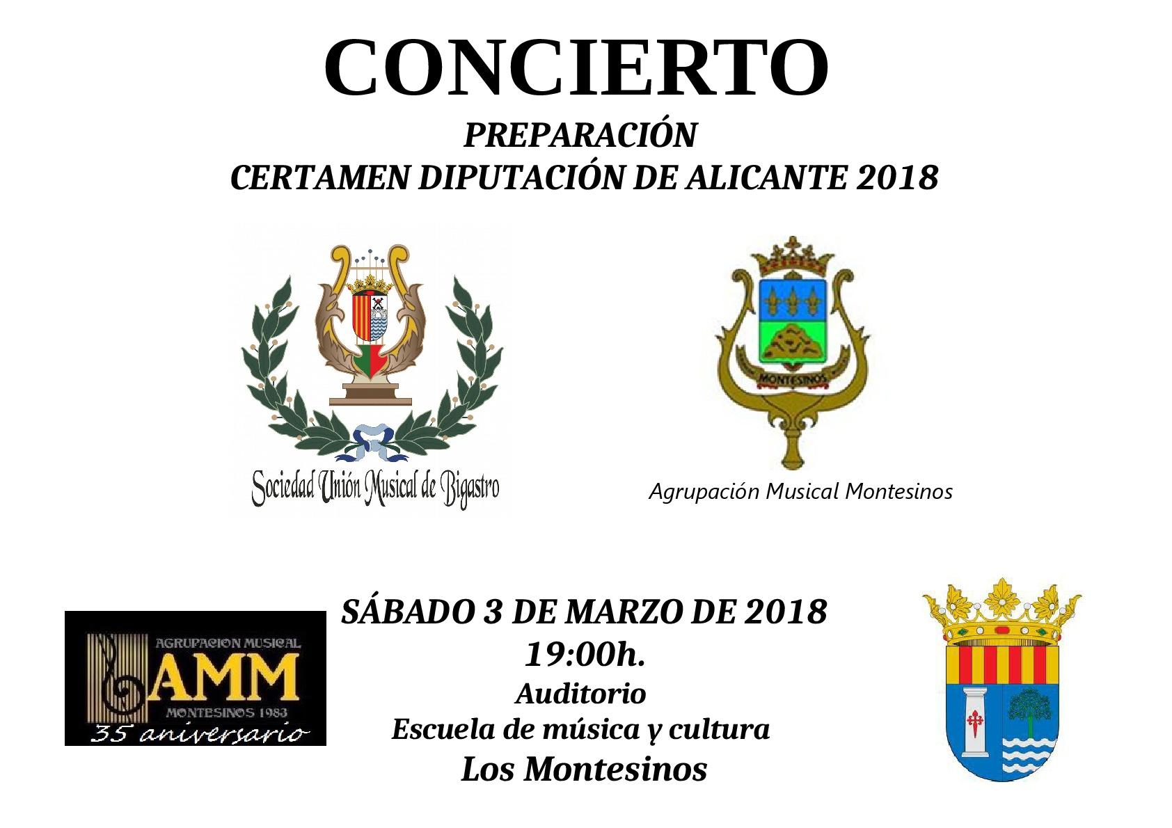 Concierto preparatorio para el Certamen de la Diputación Provincial de Alicante 2018