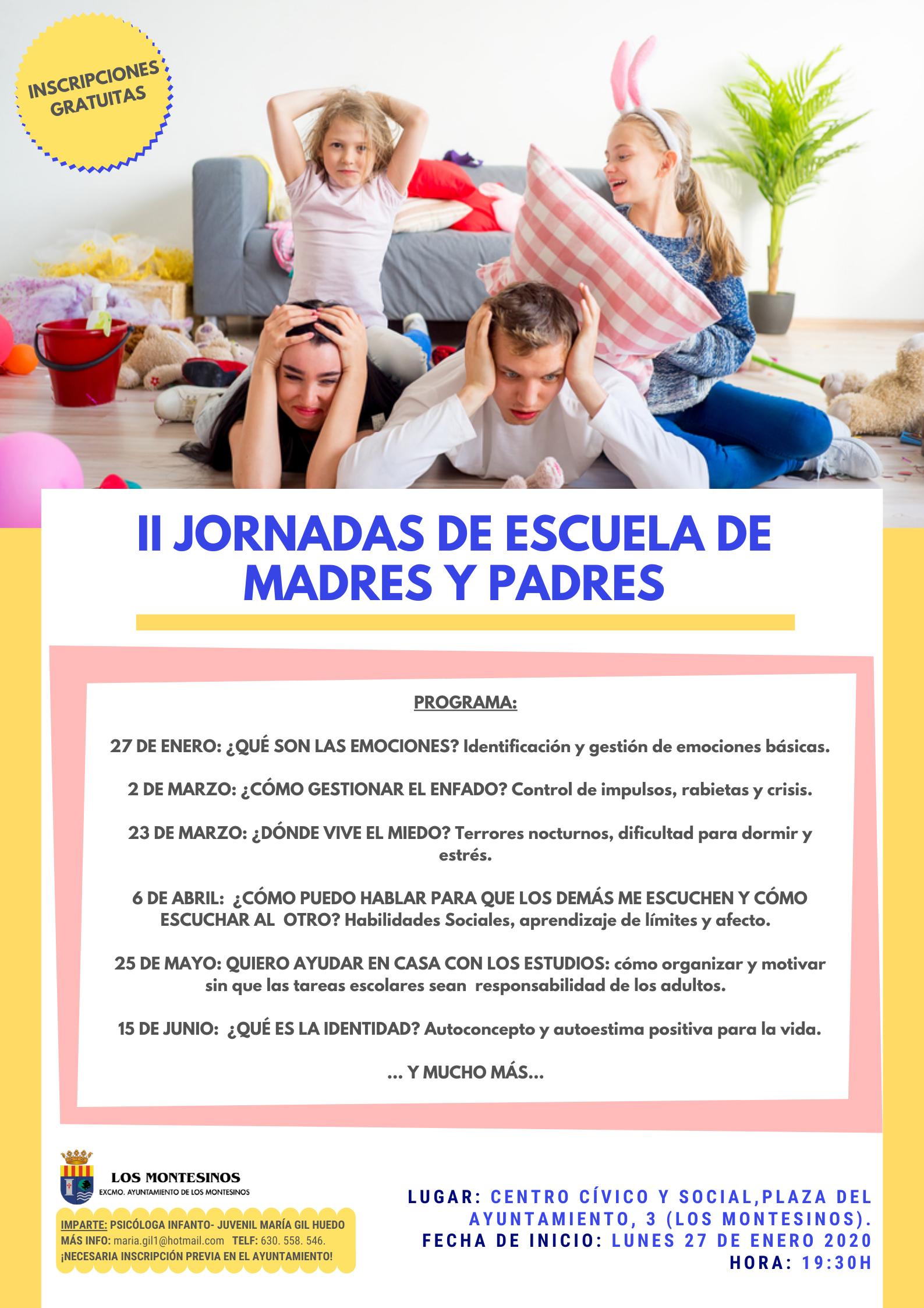 II Jornadas de Escuela de Madres y Padres de Los Montesinos